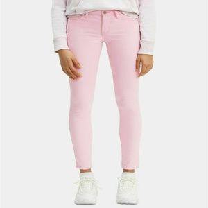LEVI'S 710 PINK ANKLE SUPER SKINNY JEANS SATEEN 24